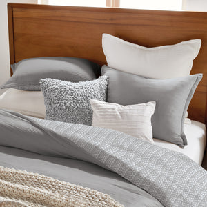 DKNY PURE Applique Grey Decorative Pillow
