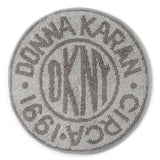 DKNY Circle Logo Bath Rug Grey