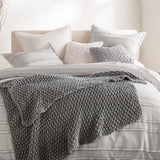 Pure Chunky Knit Throw Grey