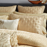 Donna Karan Gold Dust Ruffle Decorative Pillow