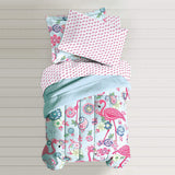 Dream Factory Flamingo Bed in a Bag Comforter Set
