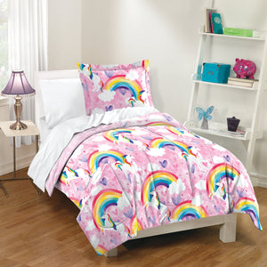 Dream Factory Unicorn Rainbow Cotton Comforter Set