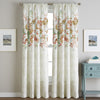 Watercolor Floral Poletop Window Curtain Panel Spice