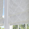 Damask Roman Window Shade Ivory