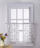 Curtainworks Botanical Embroidery Tier