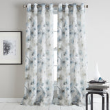 DKNY Modern Bloom Window Curtain Panel Linen