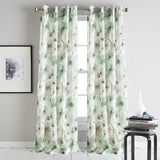 DKNY Modern Bloom Window Curtain Panel Mist