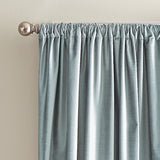 DKNY Modern Knotted Velvet Window Curtain Panel Aqua