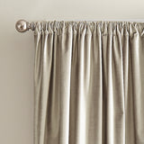 DKNY Modern Knotted Velvet Window Curtain Panel Champagne