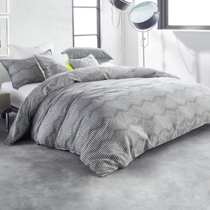 DKNY Dot Chevron Grey Comforter Bedding Collection