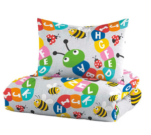 Dream Factory Alphabet Friends Cotton Comforter Set