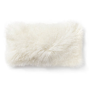 Donna Karan Collection Flokati Decorative Pillow Ivory