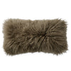 Donna Karan Collection Flokati Decorative Pillow Taupe