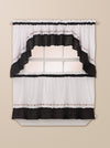 Curtainworks Jayden Tier & Valance Separates Black