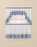 Curtainworks Jayden Tier & Valance Separates Blue