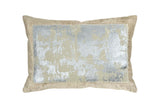 Michael Aram Distressed Metallic Lace Decorative Pillow