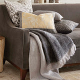 Michael Aram Charcoal Dip Dye Mohair Throw