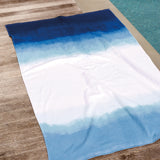 Michael Aram Dip Dye Ombre Beach Towel Blue