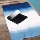 Michael Aram Dip Dye Ombre Beach Towel Black Blue