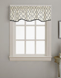 Curtainworks Morocco Scallop Valance Black