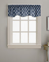 Curtainworks Morocco Scallop Valance Navy