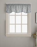 Curtainworks Morocco Scallop Valance Silver
