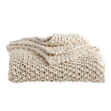 Pure Chunky Knit Throw Natural