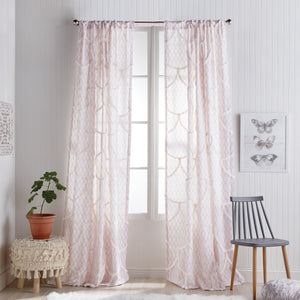 Peri Home Chenille Scallop Window Curtain Panel