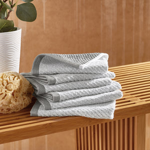 Wellbe Refresh Charcoal Washcloth Set 6-pack