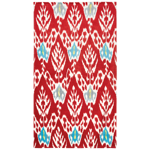 John Robshaw Umida Beach Towel Collection Red Madder
