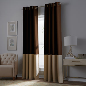 curtainworks kendall blackout curtain chocolate-beige