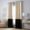 curtainworks kendall blackout curtain cream black