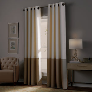 curtainworks kendall blackout curtain ivory beige