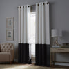 curtainworks kendall blackout curtain white grey