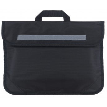 Whittlebury Black Book Bag with Logo