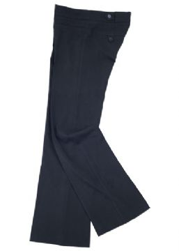 Navy Girls Stretch Waist Trousers