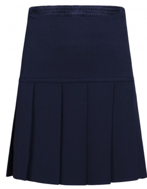 Navy Innovation Pleated Skirt