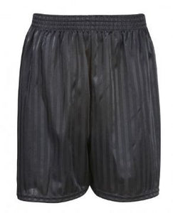 Bottisham Primary Black PE Shadow Stripe Shorts