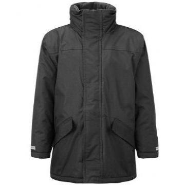 Abingdon & Witney Black Parka Jacket with Logo