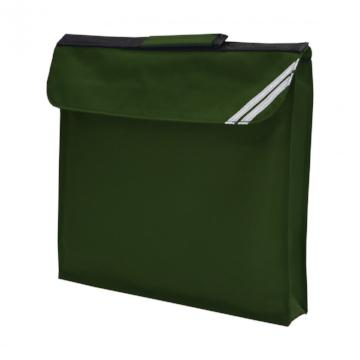 Paulerspury Bottle Green Expandable Book Bag with Logo
