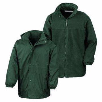 Paulerspury Bottle Green Storm Dry Jacket with Logo