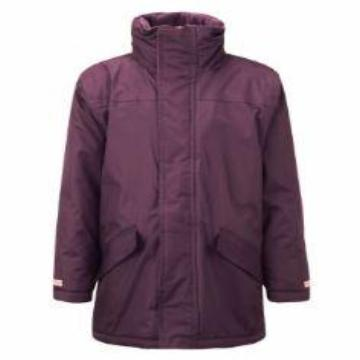 Darley Churchtown Burgundy Parka Jacket with Logo