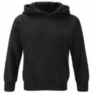Impact Academy Black Hoodie with Logo front and Back