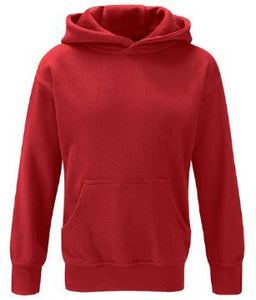 Little Thetford Leavers Hoodie in Red