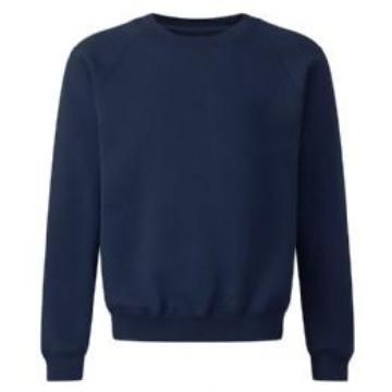 Teversham Classic Navy Sweatshirt with Logo