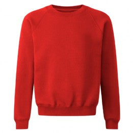 St Giles Classic Red Sweatshirt with Logo
