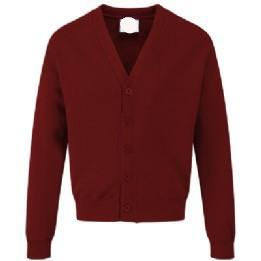 St Joseph's Burgundy Classic Sweatcardigan with Logo