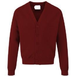 Darley Churchtown Acrylic Burgundy Sweatcardigan with Logo