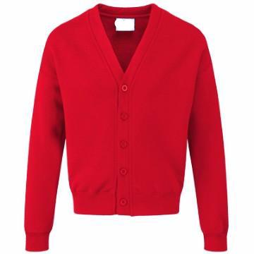 St Giles Classic Red Sweatcardigan with Logo