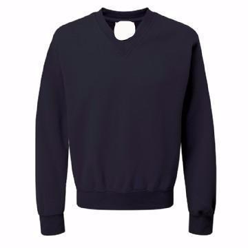 Brockwell Junior Navy V Neck Sweatshirt with Logo
